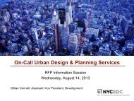 On-Call Urban Design & Planning Services - NYCEDC