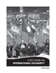 International Solidarity Report - Canadian Union of Public Employees