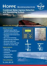 Combined Water Ingress Detection and Dewatering System