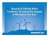Buying & Selling Wind Turbines - Pennsylvania Energy Partnership