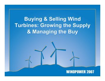 Buying & Selling Wind Turbines - Pennsylvania Energy Partnership