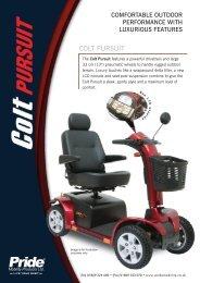COLT PURSUIT - Pride Mobility UK
