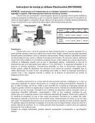 Instrucţiuni de montaj şi utilizare Electrovalvă (DN15/DN20) - Ferroli