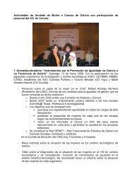 Actividades da Unidade de Muller e Ciencia de Galicia con ...