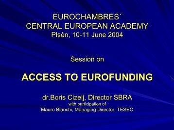why eurofunding? - Eurochambres Academy