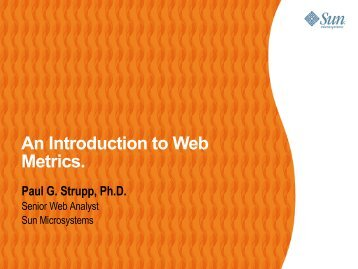 An Introduction to Web Metrics.