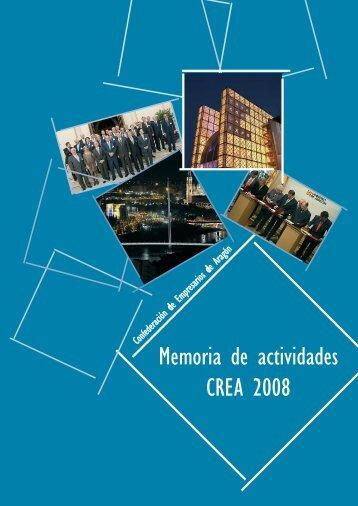 Memoria de actividades CREA 2008
