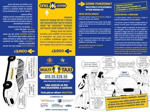 servizio multitaxi immediato - Urban Center - Comune di Genova
