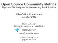 Open Source Community Metrics - LibreOffice Conference