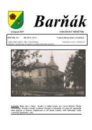 Listopad 2007 STRAŠICKÝ MĚSÍČNÍK - obec Strašice