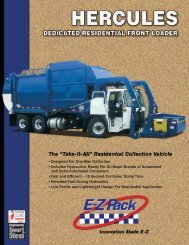 • Designed For One-Man Collection • Includes ... - EZ Pack Trucks