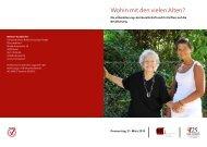 Wohin mit den vielen Alten? - Schweizerisches Rotes Kreuz