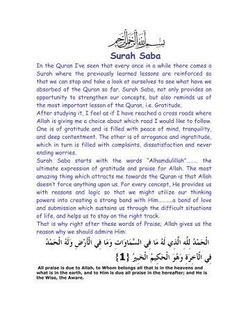 Surah Saba - Farhat Hashmi
