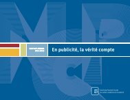 Rapport annuel courant - Advertising Standards Canada