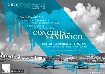 CONCERTS – SANDWICH - Les cmc