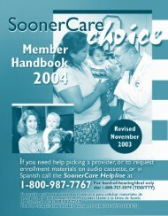 SoonerCare CHOICE - The Oklahoma Health Care Authority