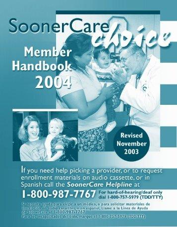 SoonerCare CHOICE - The Oklahoma Health Care Authority