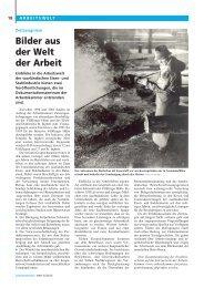 Bilder aus der Welt der Arbeit - Arbeitskammer des Saarlandes