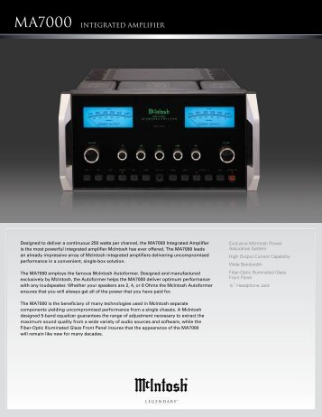 MA7000 INTEGRATED AMPLIfiER