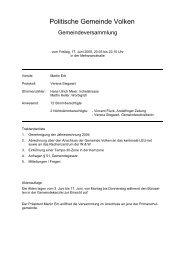 Protokoll vom 17.06.2005 - Gemeinde Volken