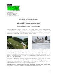 1 Le Château – Résidences artistiques Appel à candidatures ... - Tram