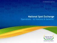 National Spot Exchange Presentation