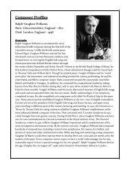 Ralph Vaughan Williams - Andrew Lesser Music