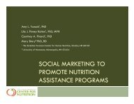 Social Marketing of Anti-Hunger Initiatives and Resources
