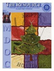 December 2008 Newsletter - Mississippi Department of Corrections