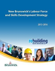 New Brunswick's Labour Force and Skills Development Strategy