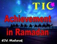 19. Achievement of Ramadan - The Message