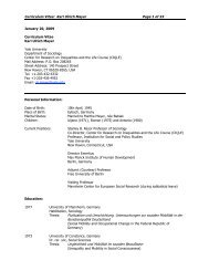 Curriculum Vitae: Karl Ulrich Mayer Page 1 of 33 ... - Martinfrost.ws