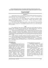 Inventarisasi Batubara di Daerah Marginal Daerah Tabang dan
