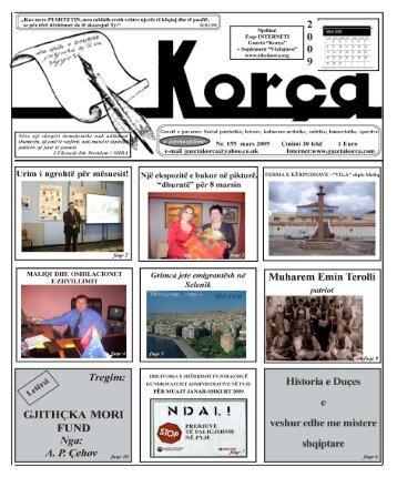 """Mars 2009 - Gazeta """"Korça"""""""