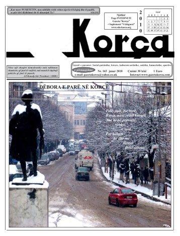 """Janar 2010 - Gazeta """"Korça"""""""