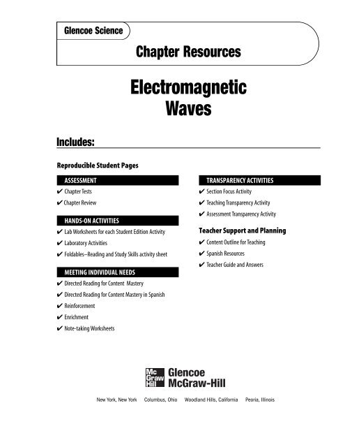 Chapter 12 Resource: Electromagnetic Waves - Garden Valley Photo