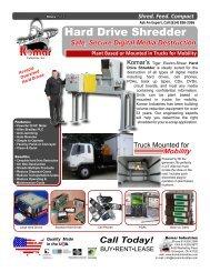 Hard Drive Shredder Brochure - Komar Industries