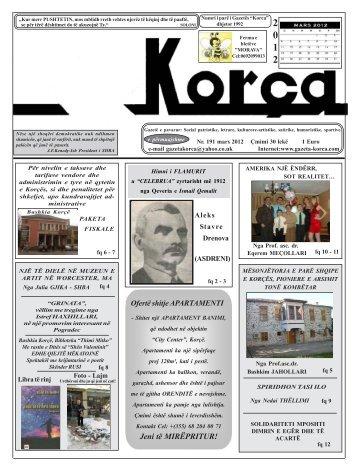"""Mars 2012 - Gazeta """"Korça"""""""