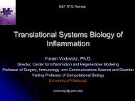 Translational Systems Biology of Inflammation - Department of ...