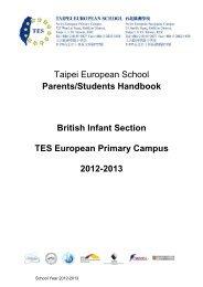 Parents Handbook 2012-13 - Taipei European School