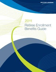 2011 Retiree Annual Enrollment Guide - Benefits