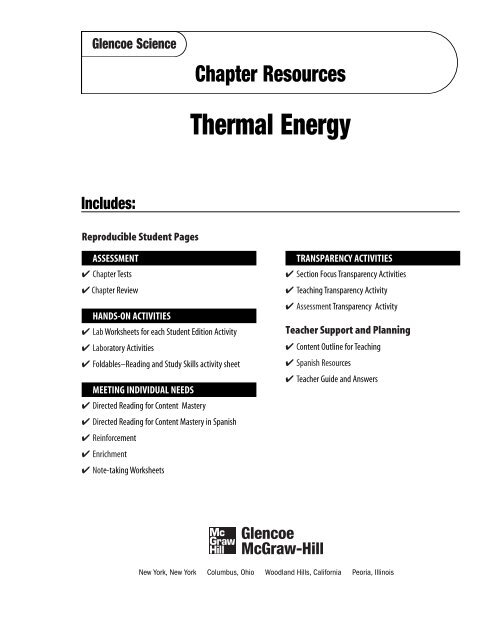 Chapter 6 Resource: Thermal Energy - Garden Valley Photo