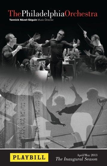 The Inaugural Season - The Philadelphia Orchestra