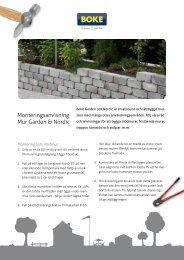 Monteringsanvisning Mur Garden & Nordic - Bygghemma