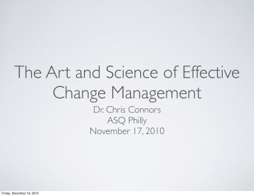 The Art and Science of Effective Change Management by Dr. Chris ...