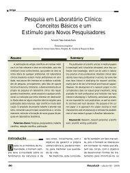 Pesquisa em Laboratório Clínico: Conceitos Básicos e ... - NewsLab