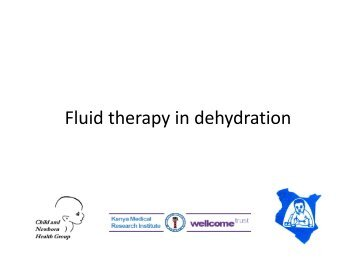 Fluid therapy in dehydration - iDOC Africa