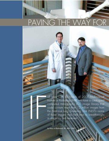 paving the way for - Mallinckrodt Institute of Radiology - Washington ...