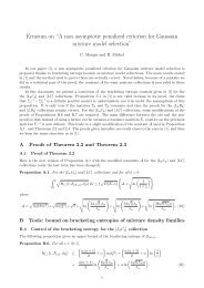 "Erratum on ""A non asymptotic penalized criterion for Gaussian ... - Lsta"
