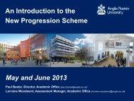 Staff Development on the New Progression Scheme